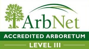 Logo ArbNet Accredited Arboretum Level III